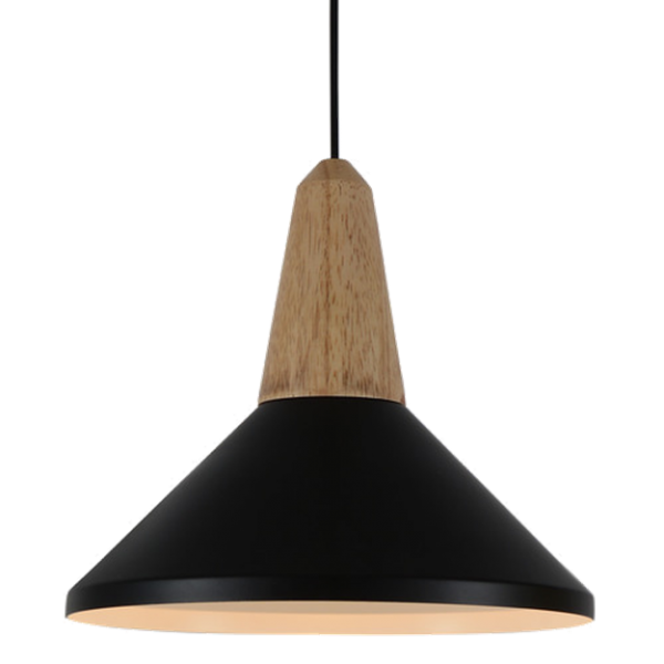 Moderna kvalitetna i elegantna visilica Symmetric s drvenim elementom