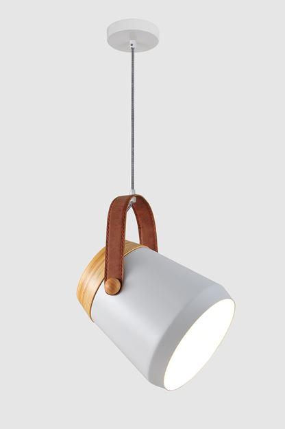 Moderna kvalitetna visilica Pella s drvenim i kožnim elementom