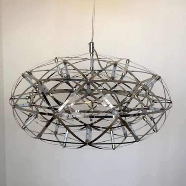 Moderan luster Dandelion od nehrđajućeg čelika s LED lampicama