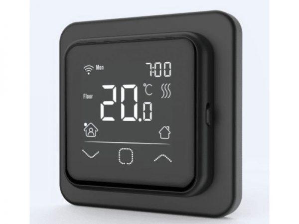 Termostat digitalni wifi s zaslonom osjetljivim na dodir C16-black-termostat