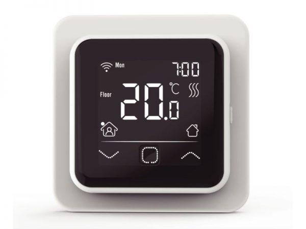 Termostat digitalni wifi s zaslonom osjetljivim na dodir bijeli