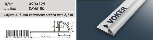 Lajsna aluminijska obla eloksirana A904329