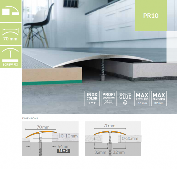 Nivelacijski profili ARBITON PR10 duljine 93cm/186cm, širine 70mm