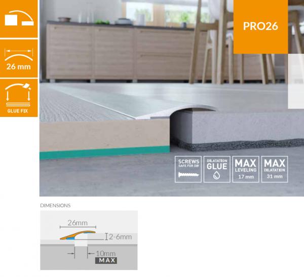 Nivelacijski profili ARBITON Pro26 duljine 93cm/186cm, širine 26mm