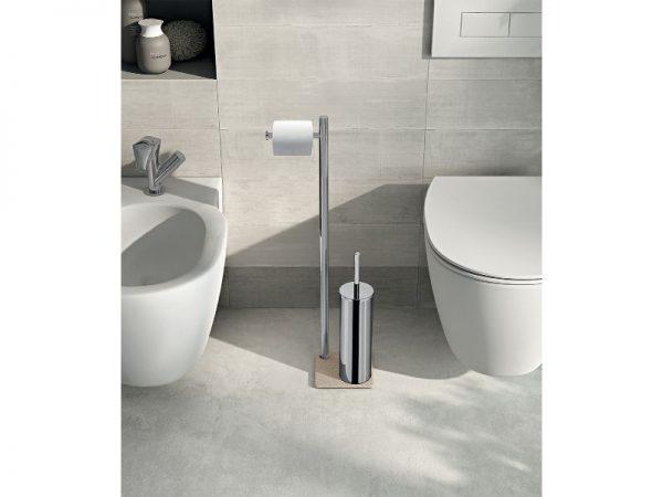 Jednostavan moderan držač WC papira i četke samostojeći GEDY Trilly TR32 13