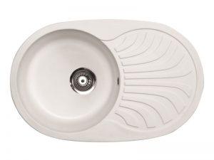 Sudoper ovalni granit bijeli METALAC Venera Plus GR-129064