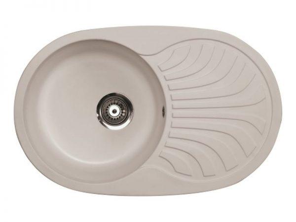 Sudoper ovalni granit sivi METALAC Venera Plus GR-129069