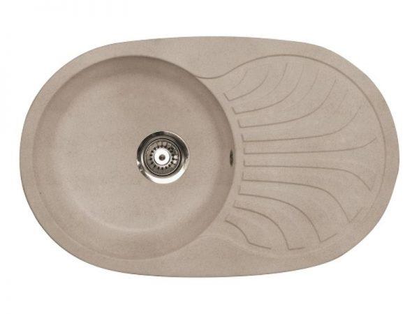 Sudoper ovalni granit bež METALAC Venera Plus GR-129071