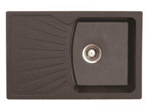 Sudoper pravokutni granit crni METALAC Quadro Plus GR-137410