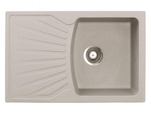 Sudoper pravokutni granit sivi METALAC Quadro Plus GR-137411