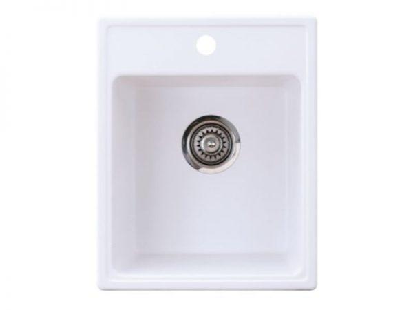 Sudoper pravokutni granit bijeli METALAC Quadro 40 GR-152984