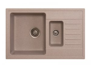 Sudoper pravokutni granit bež METALAC Quadro Plus 1.5d GR-158551