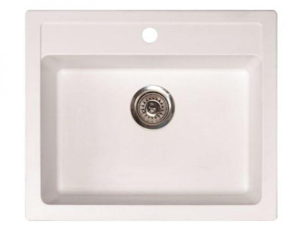 Sudoper pravokutni granit bijeli METALAC Quadro 60 GR-161968