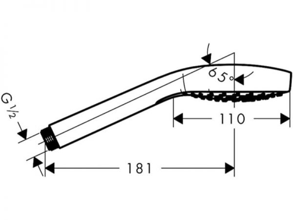 Moderna tuš ručica i crijevo HANSGROHE Croma Select E Vario Metalflex 26812400