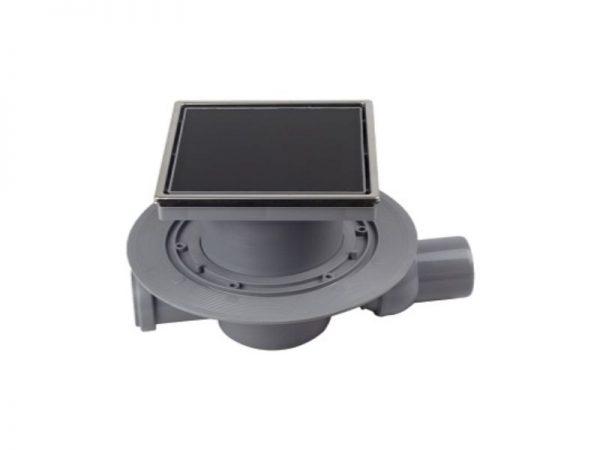 "Sifon horizontalni ""Black Glass 2"" 150x150mm s crnim staklom Confluo 50-13000090"