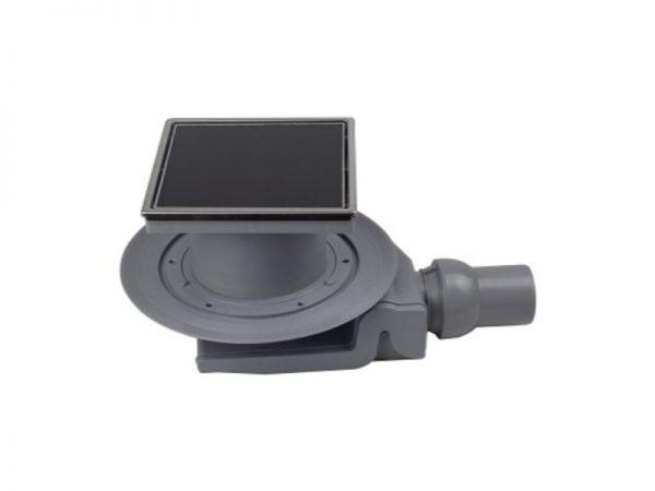 "Sifon baza ""Black Glass 4"" 150x150mm s crnim kaljenim staklom Confluo 50-13000092"