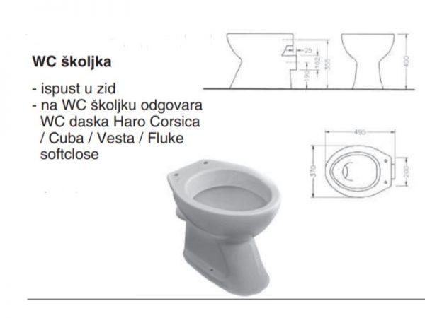 WC školjka u zid FAYANS 2065.9