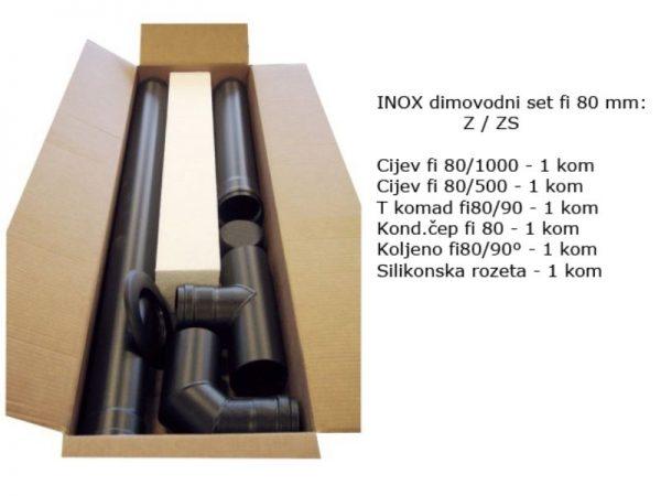 Dimovodni set fi 80 inox - crni (za Z / ZS) 25729