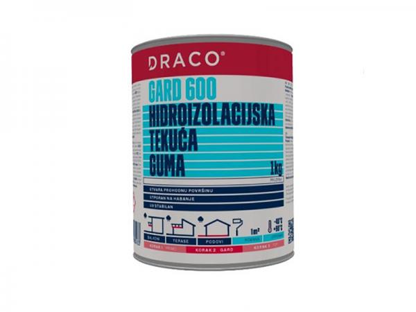 Hidroizolacijska membrana tekuća prozirna DRACO Gard 600 1kg