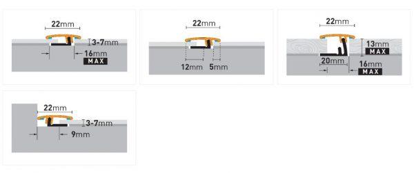 Dilatacijski profili ARBITON Produo22