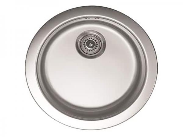 Sudoper okrugli bez rupe fi 48x15cm sa sifonom fi 90mm inox METALAC Venera 480C IN-049344