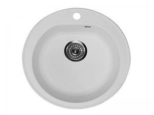 Sudoper okrugli s rupom granit bijeli METALAC Venera granit GR-123261
