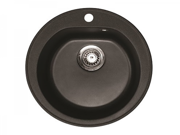 Sudoper okrugli s rupom granit crni METALAC Venera GR-113000