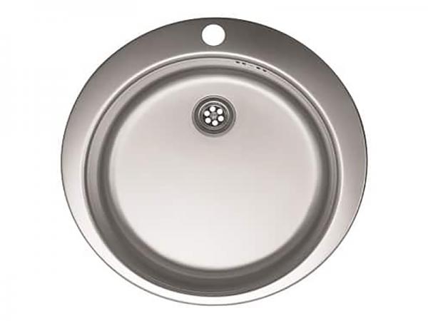 Sudoper okrugli s rupom inox METALAC Venera 480E IN-054449