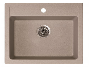 Sudoper pravokutni granit bež METALAC Quadro 60 GR-161967
