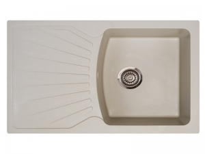 Sudoper pravokutni granit bež METALAC Quadro Plus GR-137412