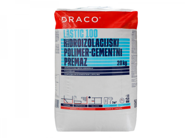 Hidroizolacijski premaz DRACO Lastic 100 20kg