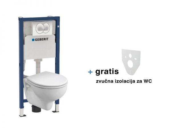 Ugradbeni vodokotlić GEBERIT Delta20 Kolo Rekord Perca set