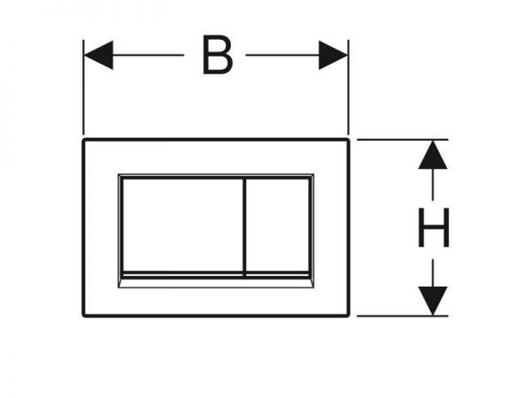 Tipka GEBERIT Sigma 30 115.883.kh.1 sj.krom/mat krom/sj.krom A06435