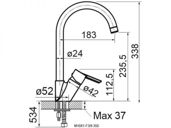 Miješalica (slavina) za sudoper VOXORT Glem 82500 N11137