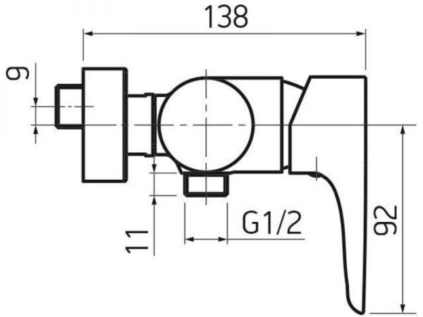 Miješalica (slavina) za tuš kadu VOXORT Dolphin 72700 N11143