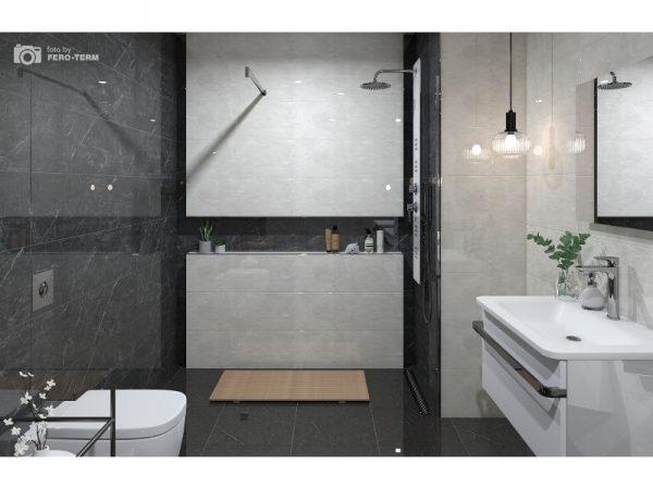 Tuš panel Grace glass white 9808g VOXORT N13344