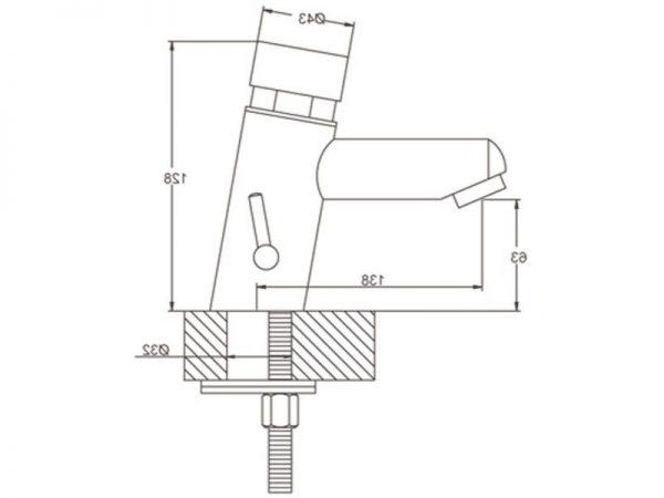 Miješalica (slavina) za umivaonik potisna VOXORT 16-D N13682