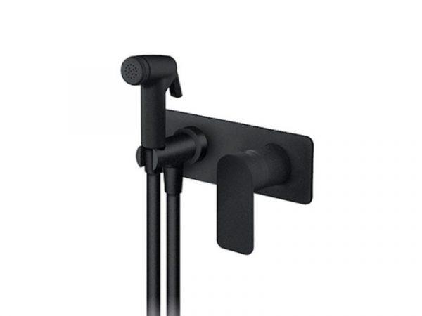 Podžbukna miješalica (slavina) za bide sa ručnim tušem ROSAN S2 black 239501B