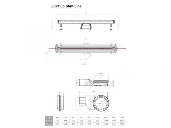 Tuš kanalica Peštan CONFLUO Slim line 13100027
