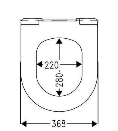 WC sjedalo (daska) soft close TURAVIT Ray black H-537684-C4302G