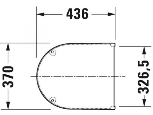 WC sjedalo (daska) DURAVIT Strack 3 0063810000