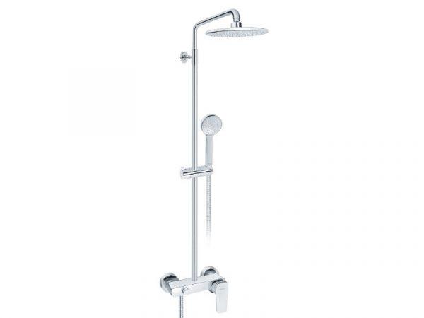 Tuš sistem s miješalicom (slavinom) za tuš kadu sa usponskim i ručnim tušem ROSAN Stolz 137251