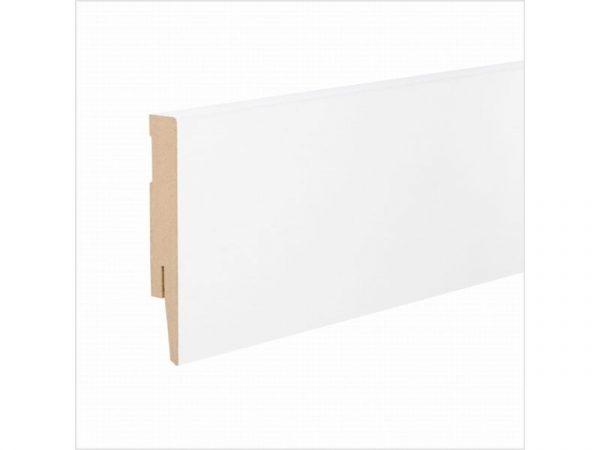 Lajsna za laminat Paint IT MDF ravna bijela duljine 2,4m - visina od 60 do 80mm
