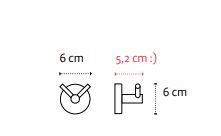 Vješalica dvostruka UNO chrome 12 02