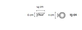 Držač sapuna-tanjuric UNO white matt 13 01 66