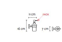 Držač posude za tekuci sapun UNO matt black 18 01 55
