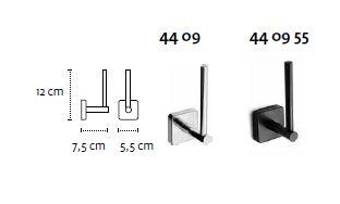 Držač WC papira vertikalni QUATTRO matt black 44 09 55