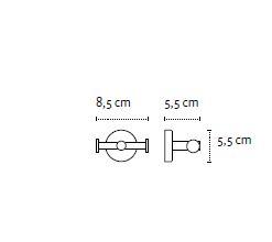 Vješalica dvostruka UNO chrome 12 22