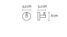 Vješalica jednostruka UNO chrome 12 09