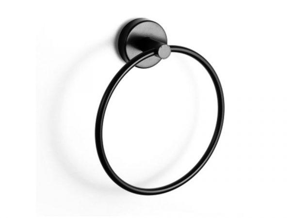 Držač ručnika prsten UNO matt black 12 20 55